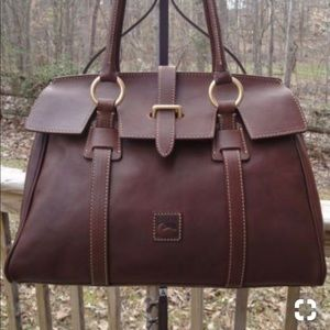 DOONEY&BURKE FLORENTINE LEATHER TAB COLLAR SATCHEL